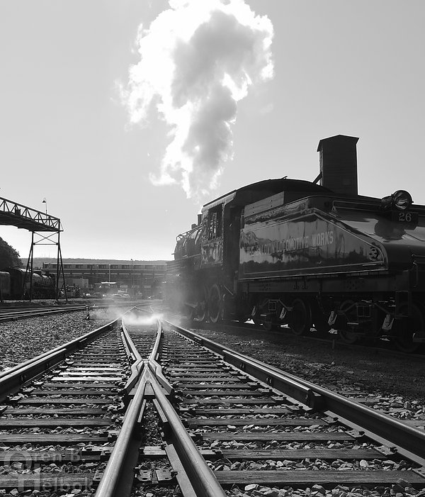 Steamtown BLW #26 in the yard