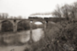 Reading & Northern 425 on Peacock's Lock Bridge, Schuylkill River, Pennsylvania, December 2018, Oren Helbok Photography