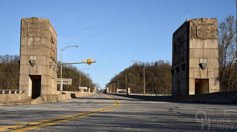George Westinghouse Bridge, East Pittsburgh, Pa., early evening