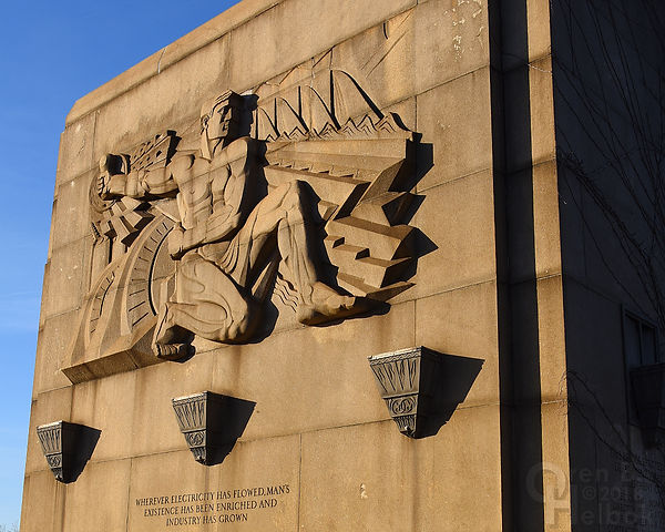 Frank Vittor sculpture, George Westinghouse Bridge, East Pittsburgh, Pa., early evening