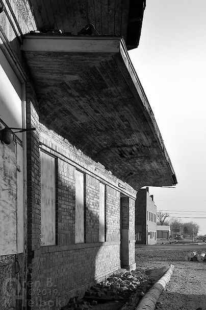 "B&O station, ""Crossroads of the B. & O."", Deshler, Ohio, Oren B. Helbok photo"