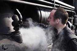 Rob Sporek adjusting cylinder lubrication