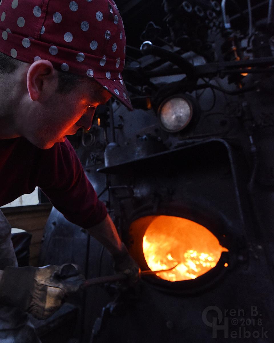 Jake Pothering raking at Minersville