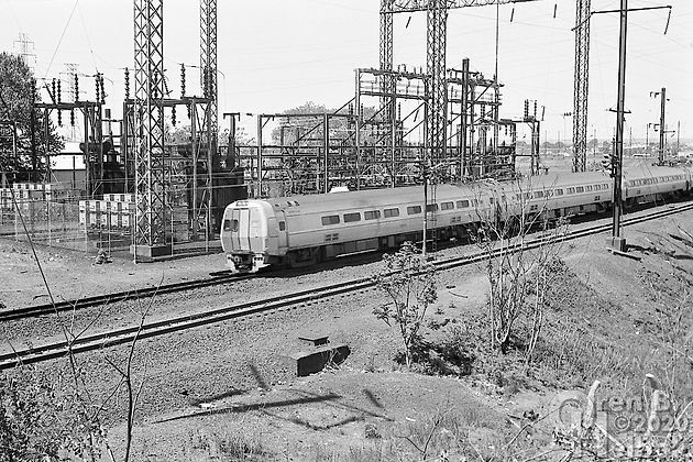 Eastbound Amtrak Metroliner, North River Tunnel, North Bergen, New Jersey, 1977, Oren B. Helbok photo