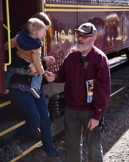 North Shore Railroad Bloomsburg Easter train, trainman Bob Smith, March 2018