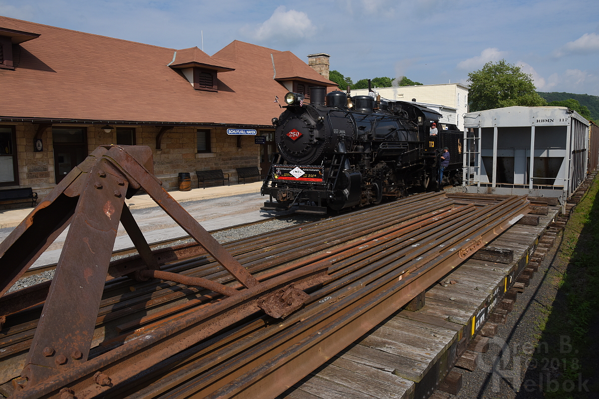 #113 at Schuylkill Haven station