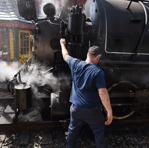 Viscose #6 visits the Colebrookdale Railroad, May 2016