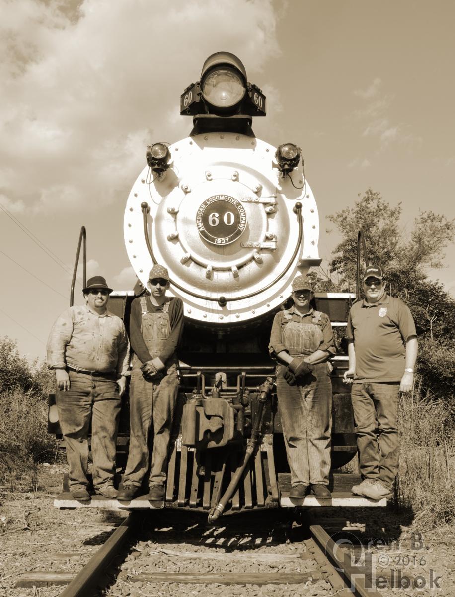 Train crew at Boss Road
