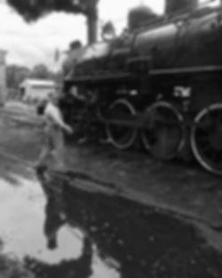 Arcade & Attica Railroad fireman Dean Steffenhagen