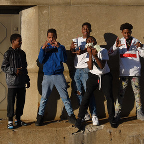 Kids on the Westinghouse Bridge