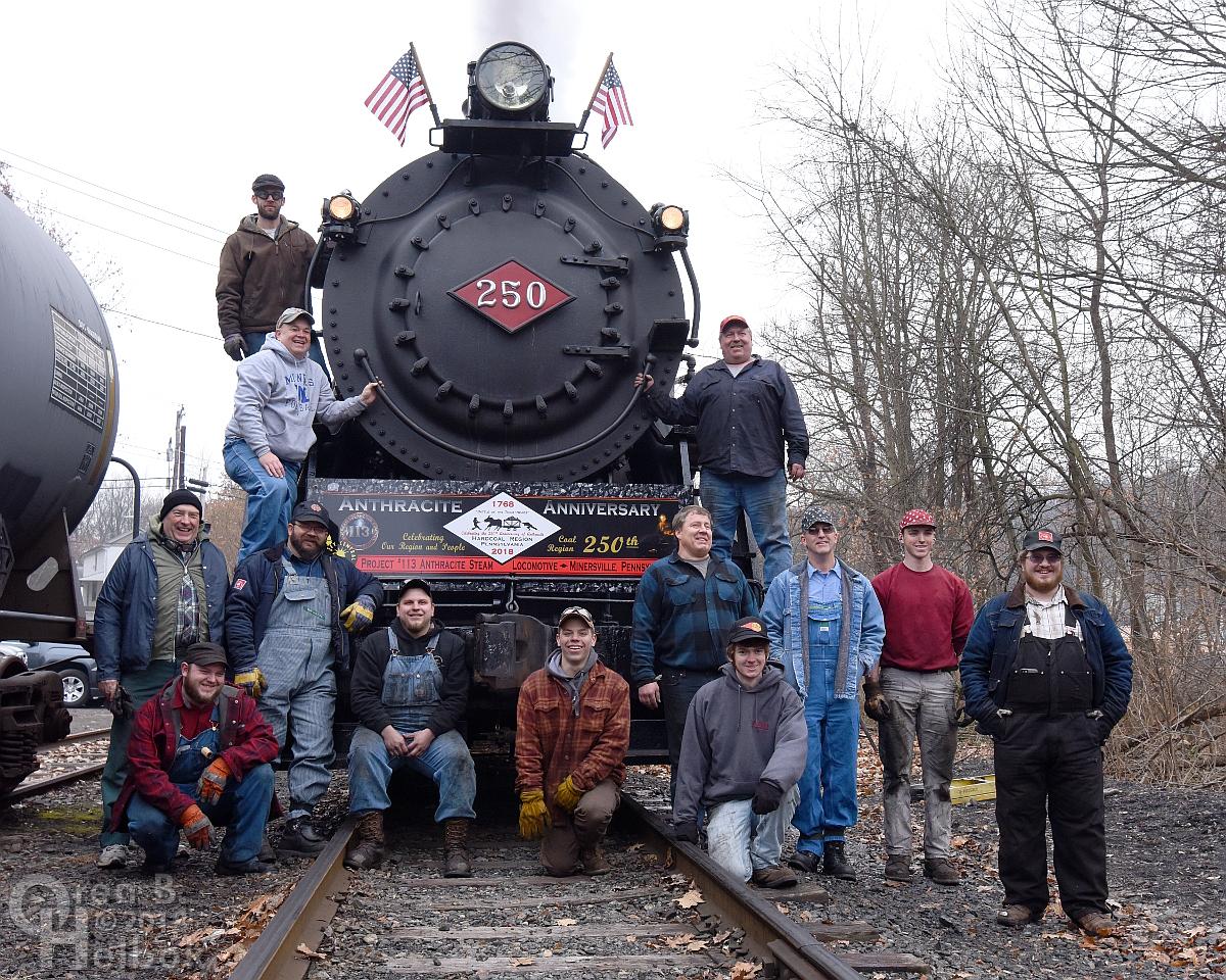 Group photo at Minersville