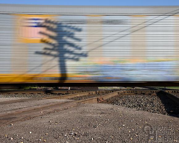 Iron Triangle, Fostoria, Ohio, C&O-NKP diamonds, eastbound NS automobile train, Oren B. Helbok photo