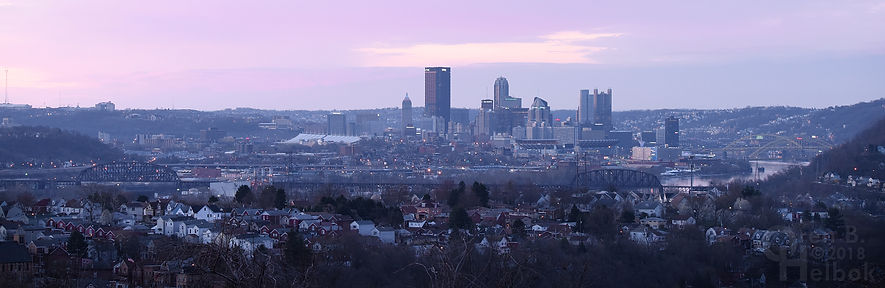 Downtown Pittsburgh from McKees Rocks, 6:24 a.m.