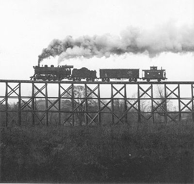 James Gallagher Maryland & Pennsylvania trestle silhouette