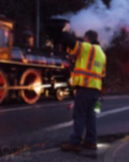 Steam Into History, Glen Rock, Pa., crossing guard