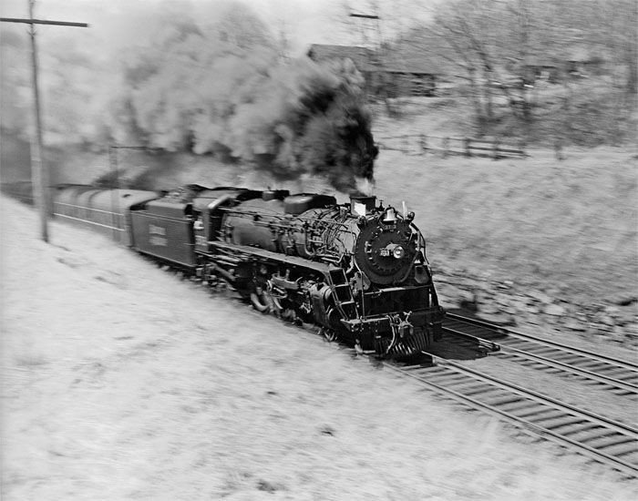 Jim Shaughnessy, Boston & Maine 4-6-2 3713 on her last run, at Haverhill, Massachusetts, 1956