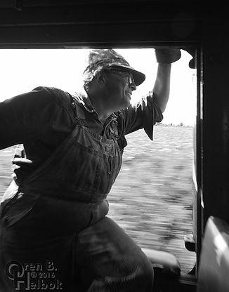 Black River & Western #60 engineer Frank Capalb