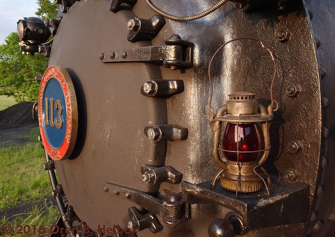 Railway Restoration Project 113's 0-6-0 C.N.J. #113 with Chris Hohman's lantern at Schuylkill Haven