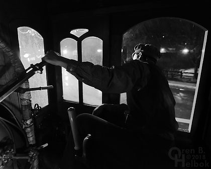 Steam Into History, Glen Rock, Pa., Stephen Lane, engineer, Christmas train