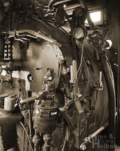Wilmington & Western Railroad #98 engineer's side backhead controls