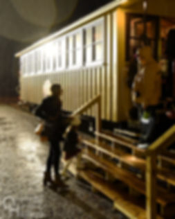 Steam Into History, New Freedom, Pa., passenger train in the rain