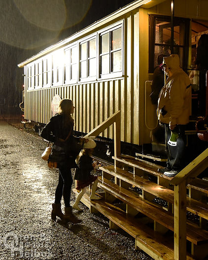 Steam Into History, New Freedom, Pa., passenger train in the rain