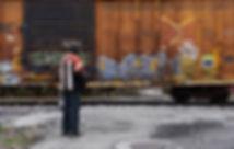 Frankfort, Indiana, CSX eastbound freight, Nicholas waiting