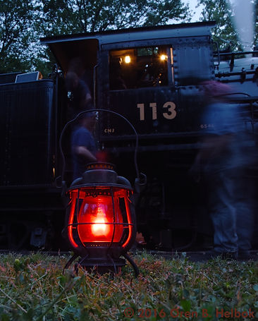 Railway Restoration Project 113's 0-6-0 C.N.J. #113 lantern at Minersville