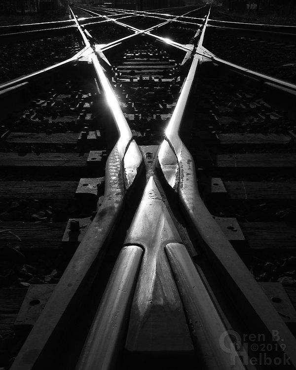 Iron Triangle, Fostoria, Ohio, NS and CSX diamonds, Oren B. Helbok photo
