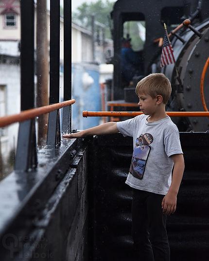 Arcade & Attica Railroad passenger child