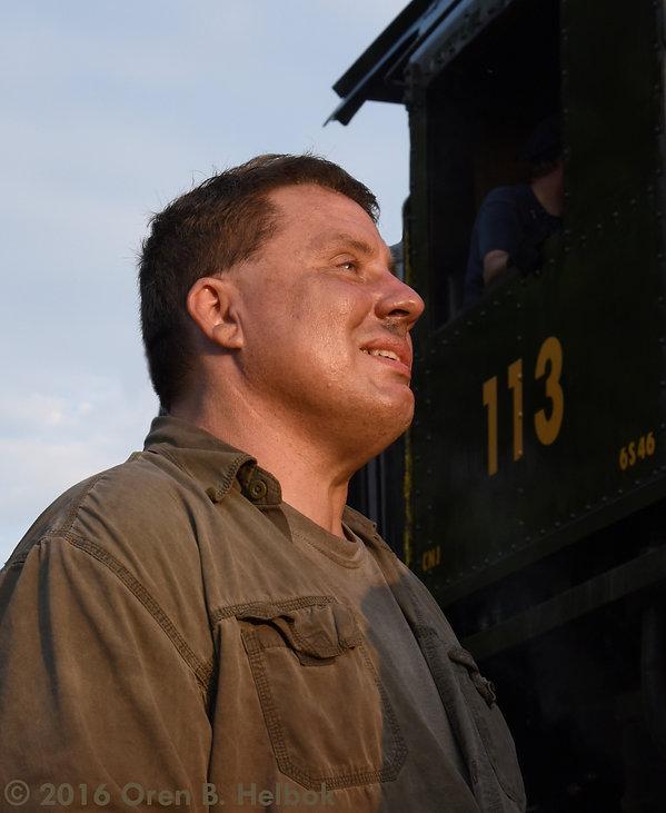 Railway Restoration Project 113's 0-6-0 C.N.J. #113 with Bob Kimmel Jr. at Schuylkill Haven