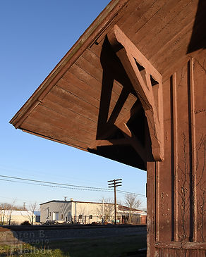 NYC depot, Iron Triangle, Fostoria, Ohio, Oren B. Helbok photo