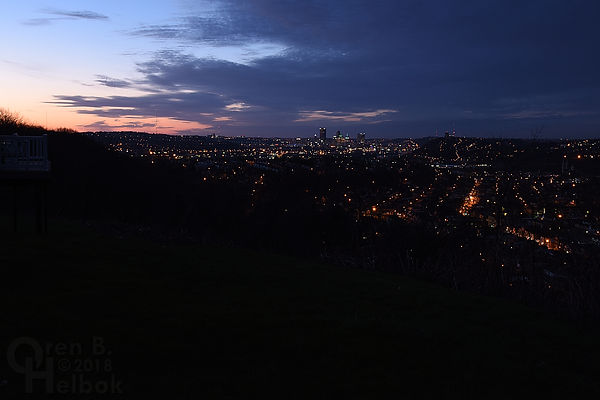 Pre-dawn Pittsbrgh as seen from McKees Rocks, Pa.