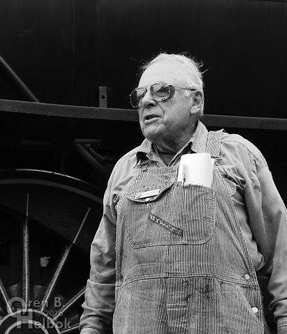 Wilmington & Western Railroad #98 at Marshallton volunteer fireman Don Young