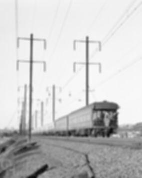 Amtrak GG1 4935 maiden run eastbound, The Murray Hill, Secaucus, New Jersey, 15 May 1977, Oren B. Helbok photo