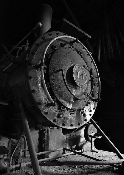 Arcade & Attica Railroad #14 in the enginehouse