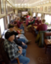 Aboard the Chicope Falls lounge car owned by Jeff Pontius in Bloomsburg, Pa., March 2018