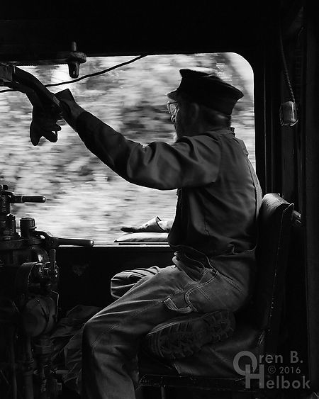 "Wilmington & Western Railroad #98 volunteer engineer John LaCosta ""man in a hurry"""