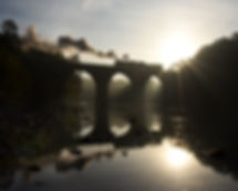 Reading & Northern 425, Peacock's Lock Bridge, Schuylkill River, Reading, Pennsylvania, Oren B. Helbok photo