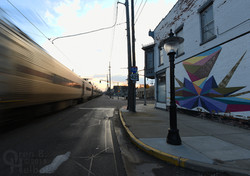 Westbound South Shore commuter train