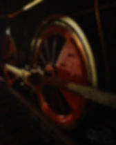 Steam Into History, New Freedom, Pa., York #17 driving wheel in the rain