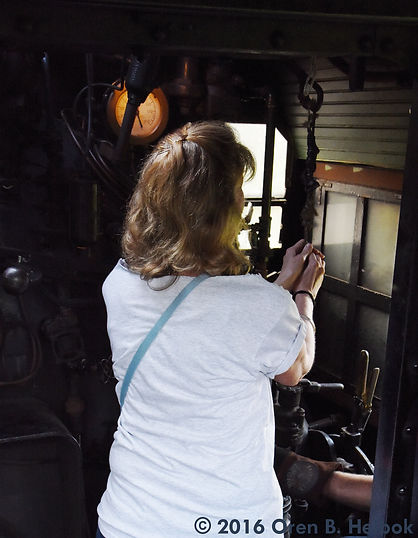 Railway Restoration Project 113's 0-6-0 C.N.J. #113 with Krista Hertz at Schuylkill Haven