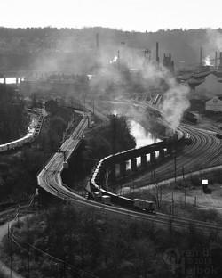 Northbound Union R.R. slab train