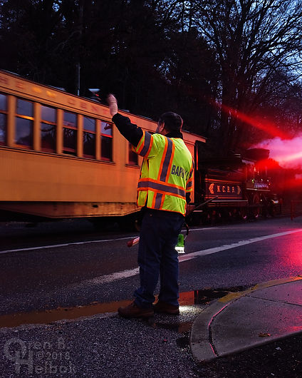 Steam Into History, Glen Rock, Pa., crossing guard