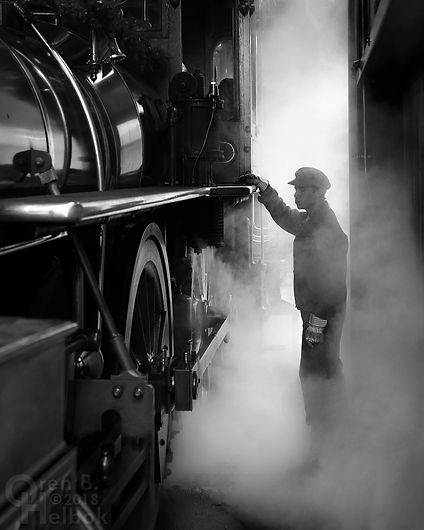 Stephen Lane, Steam Into History engineer and fireman
