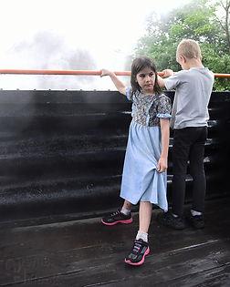 Arcade & Attica Railroad children passengers