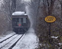 Train 2 approaching Leaman Place