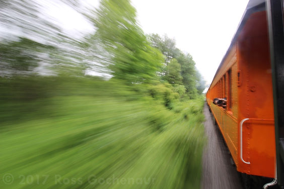 Arcade & Attica train ride railfan photographer