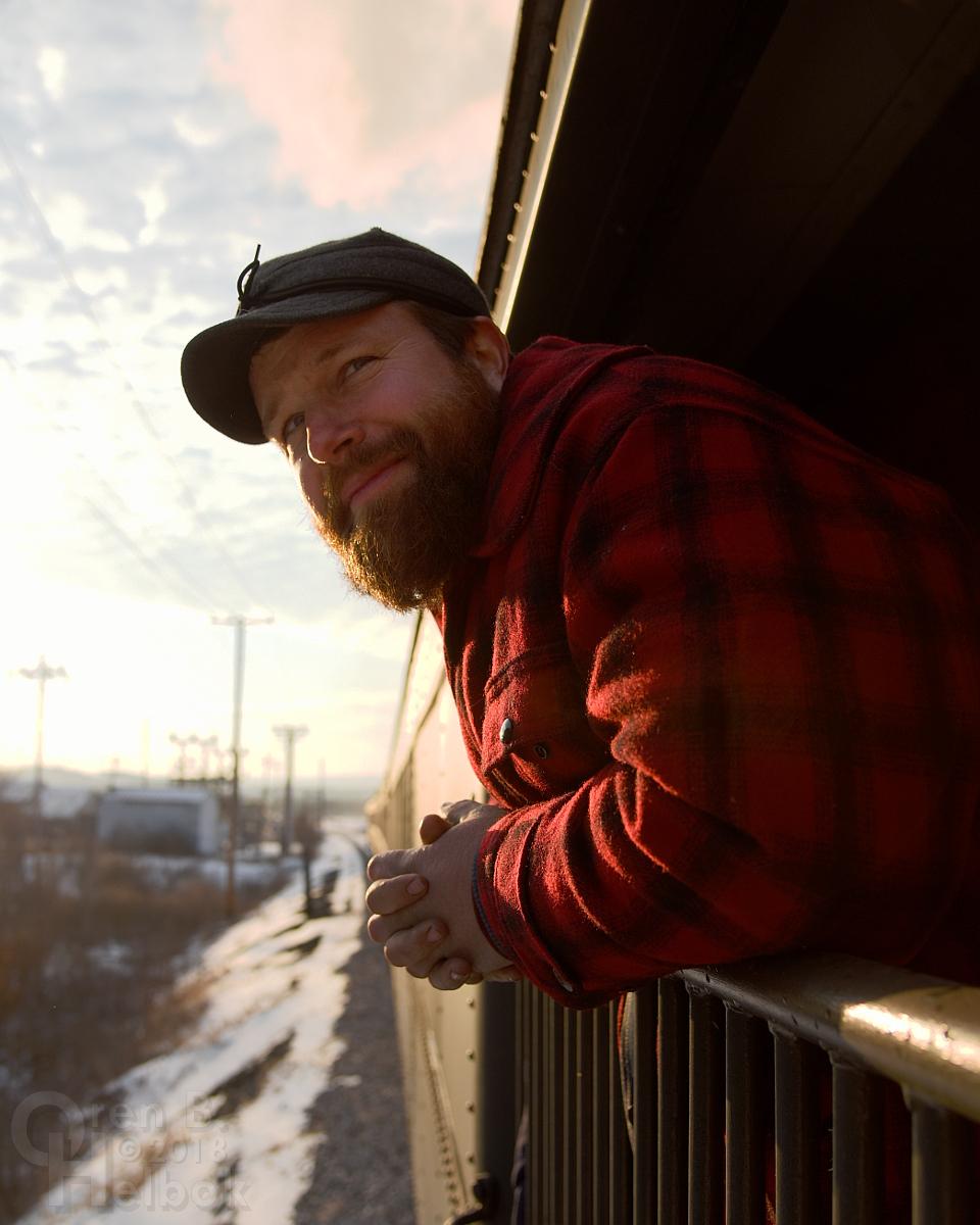 Ross Gochenaur in the combine