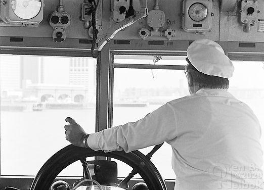 Staten Island Ferry, ferry captain, Staten Island Ferry captain, Whitehall Ferry Terminal, New York Harbor, Oren B Helbok photo